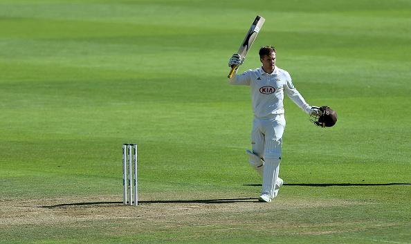 Jason Roy celebrates a ton for Surrey | Getty Images