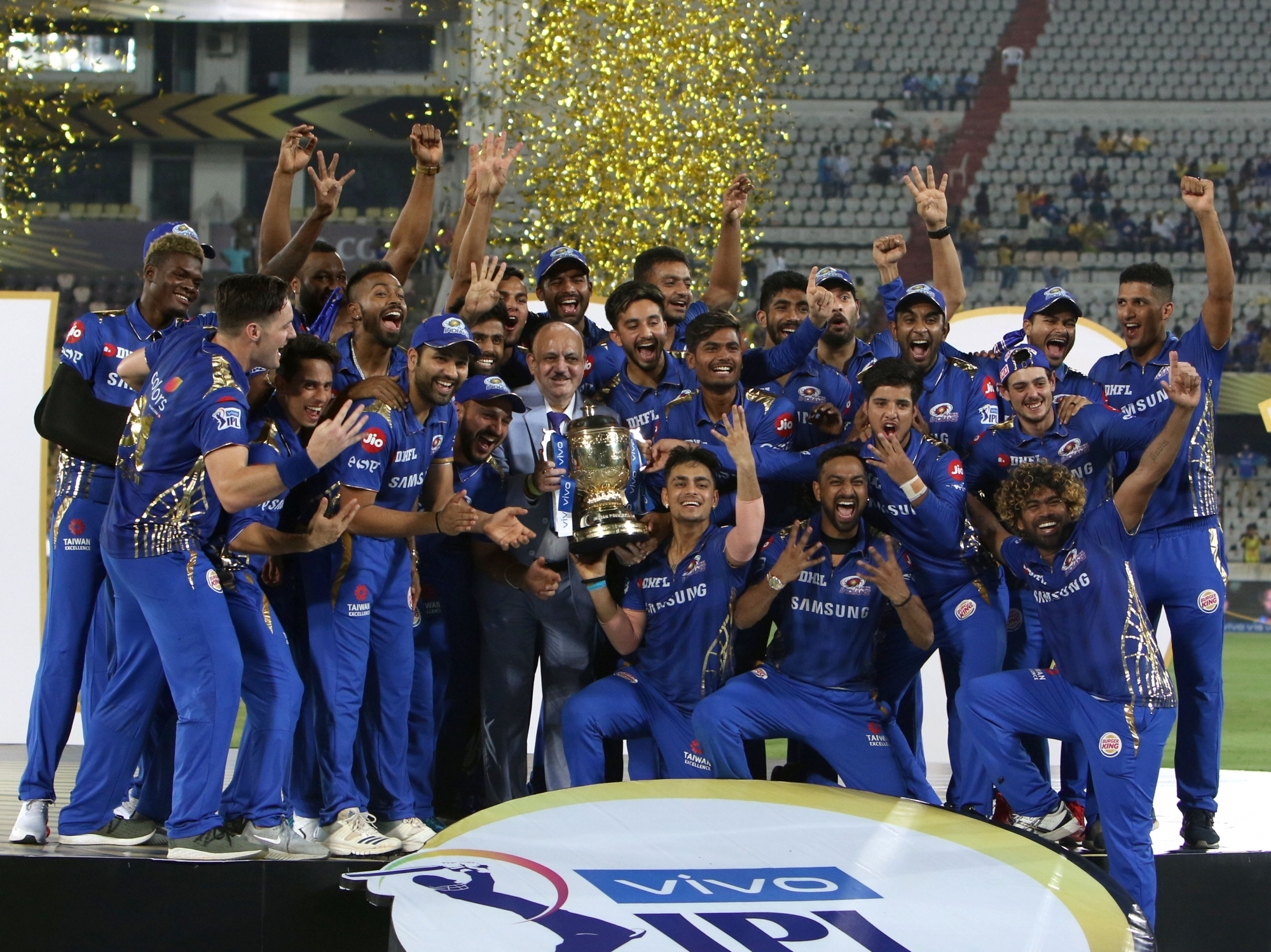 Mumbai Indians as IPL champions