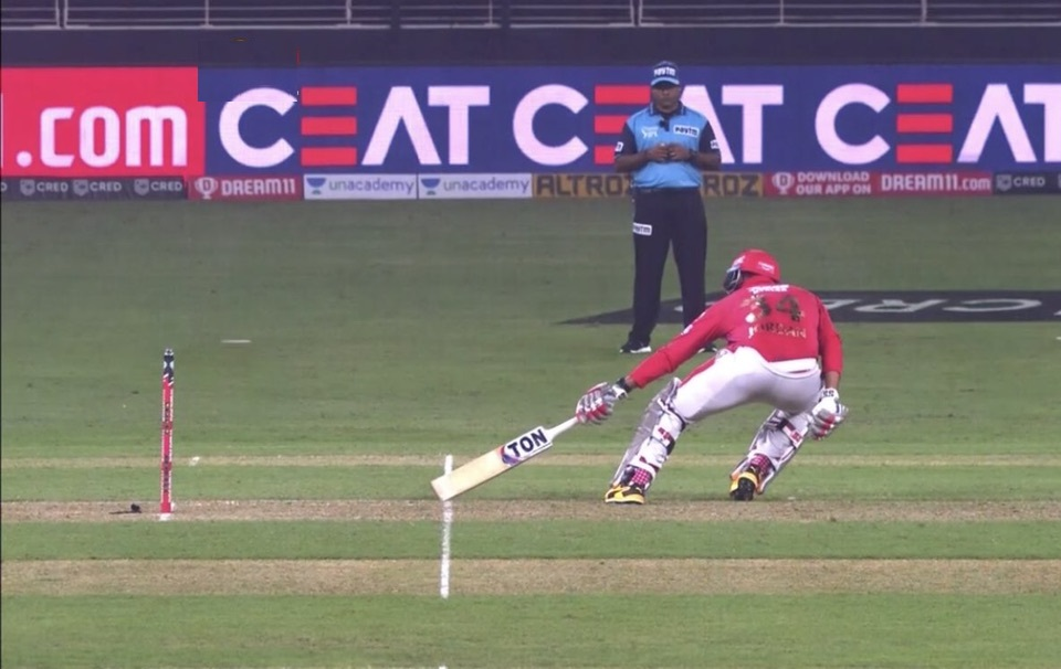 This short run call robbed KXIP of a win   Twitter