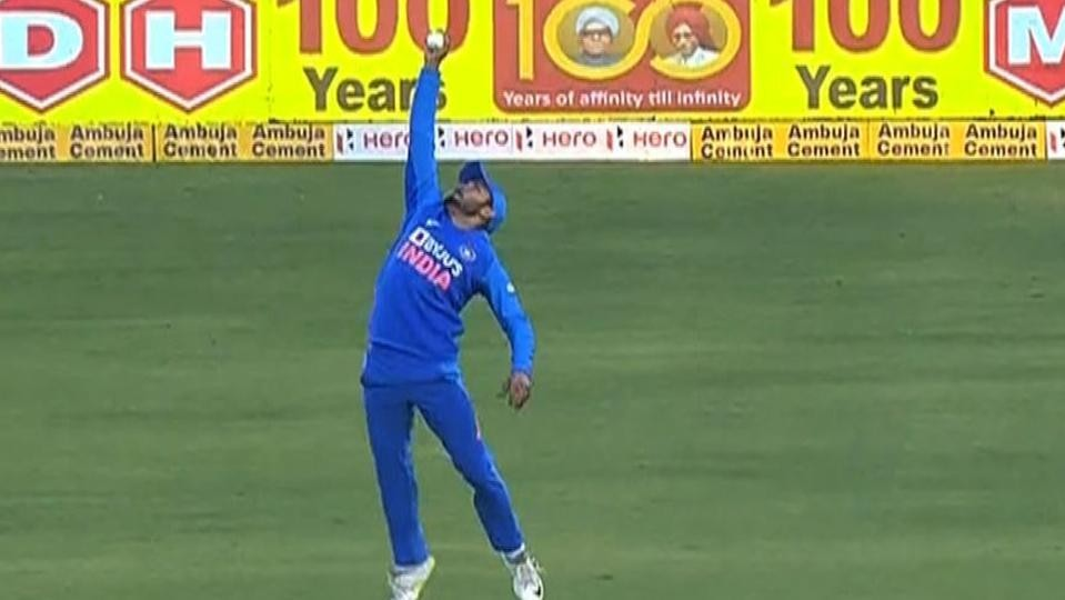 IND v AUS 2020: WATCH- Manish Pandey takes a one-handed stunner to send back Warner