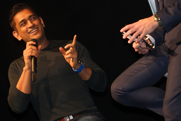 MS Dhoni at the event | GETTY