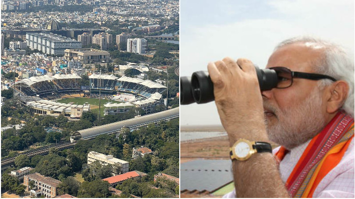 IND v ENG 2021: PM Narendra Modi catches a fleeting view of the ongoing second Test in Chennai