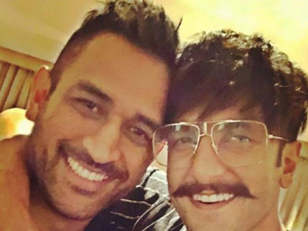 Ranveer Singh with MS Dhoni | Instagram