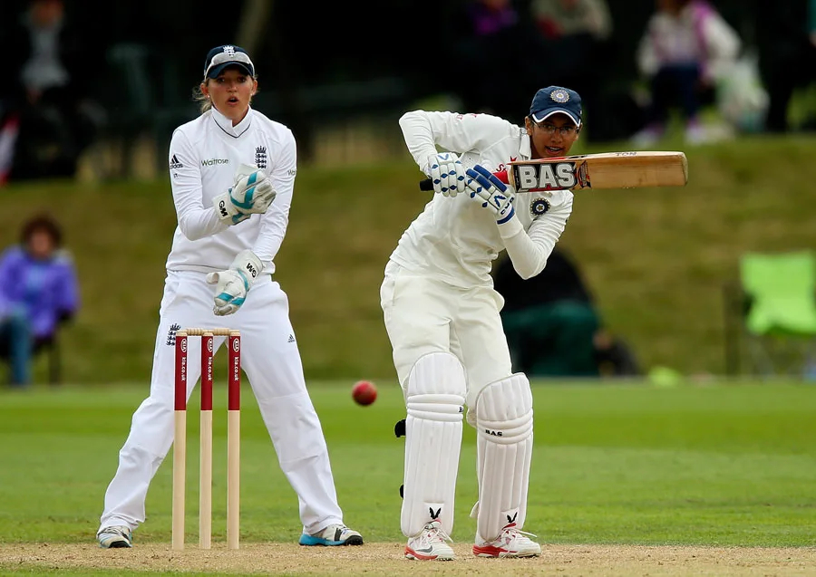 Smriti Mandhana during the 2014 Test against England   Getty Images