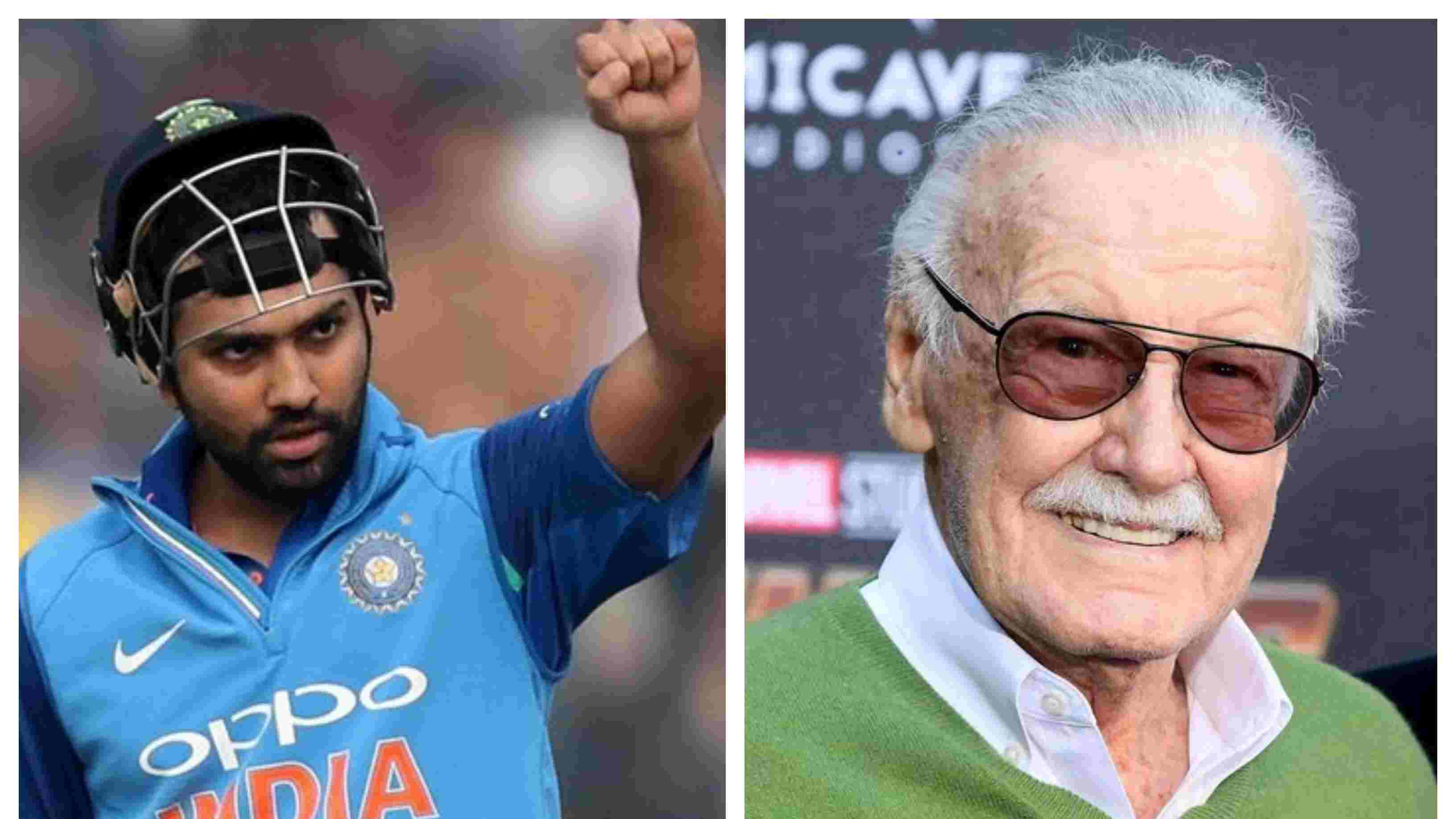 Rohit Sharma condoles the demise of Stan Lee with heartfelt tribute