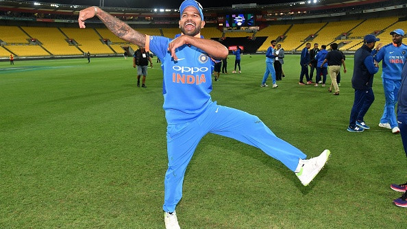 NZ v IND 2019: WATCH – Shikhar Dhawan flaunts his 'bhangra' skills to the tunes of Bharat Army's drum