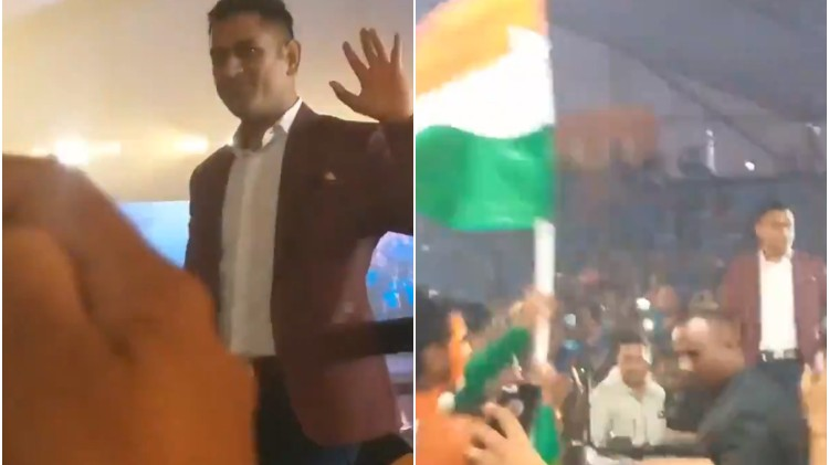 WATCH: MS Dhoni's unreal fan following; gets a grand welcome in Mumbai