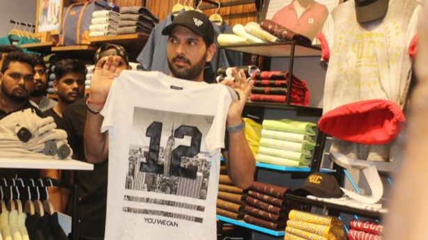 Yuvraj Singh surprises fans in Hyderabad Central, launches his brand YouWeCan