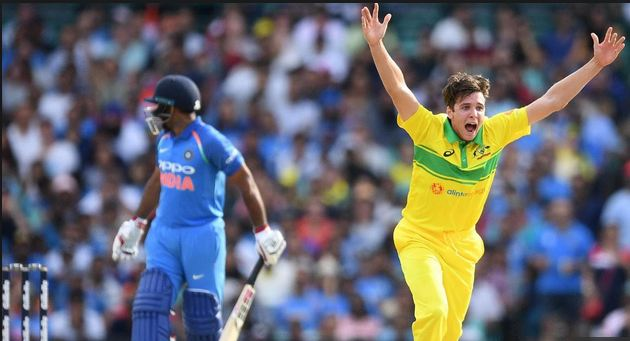 Jhye Richardson took 4/26 in the first ODI in Sydney (photo - Getty)