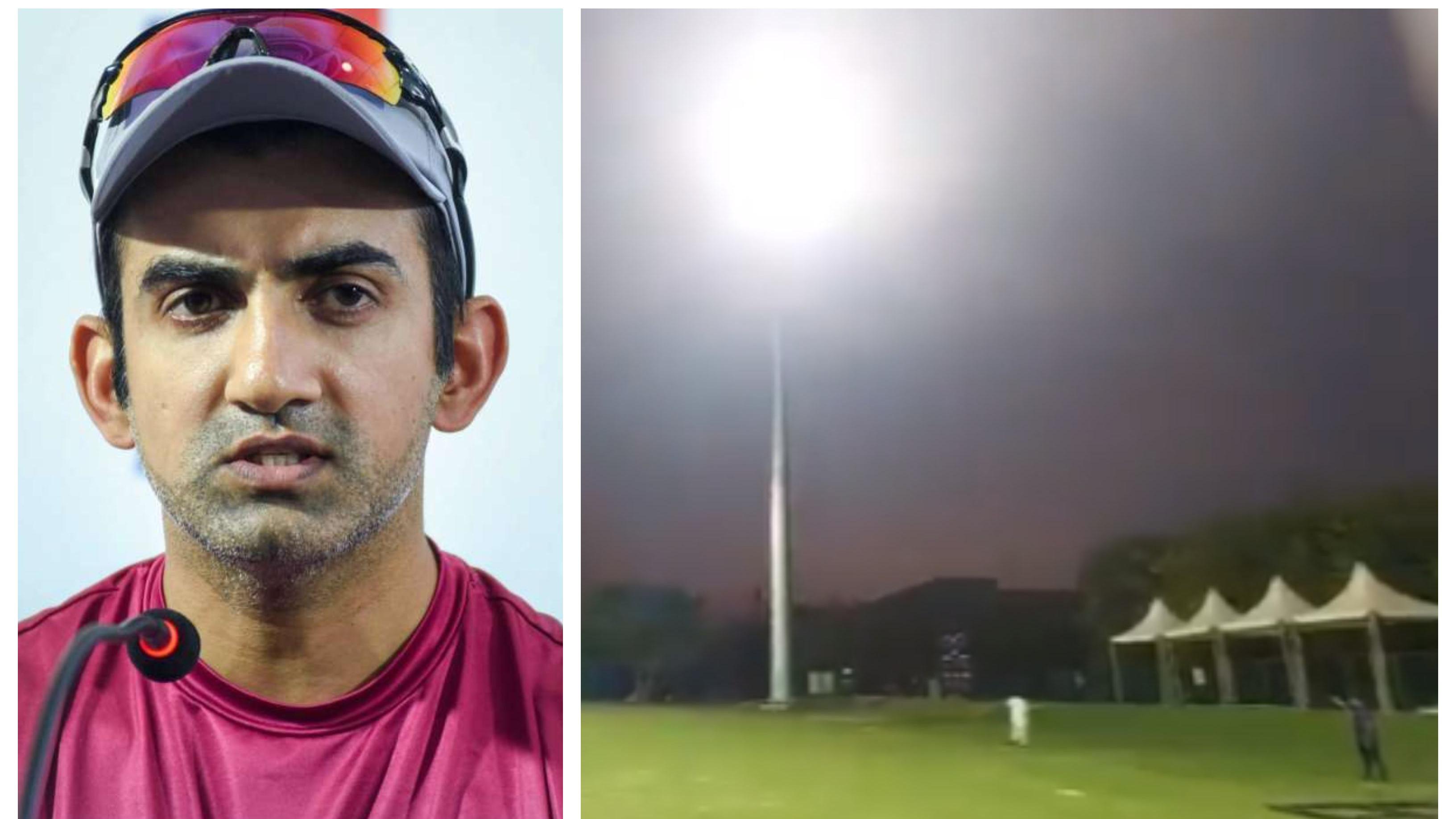 Gautam Gambhir clarifies Yamuna Sports Complex not converted to cricket field, only upgraded