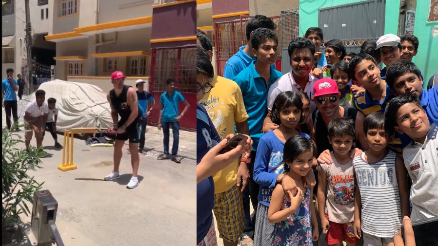 IPL 2019: WATCH- Kevin Pietersen plays gully cricket with kids in Bangalore