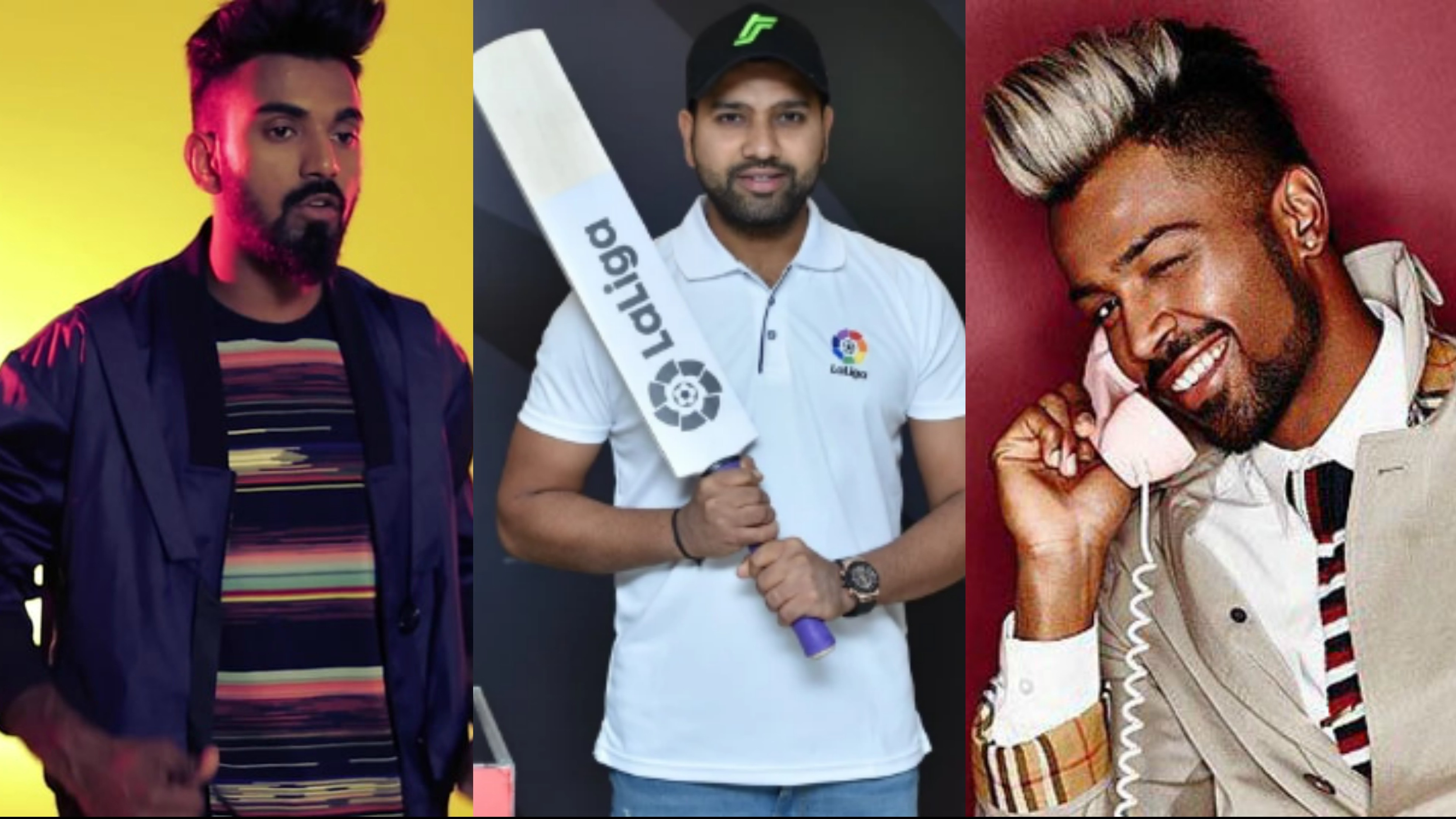 Hardik Pandya and KL Rahul's hairstyles are inspired by footballers, says Rohit Sharma