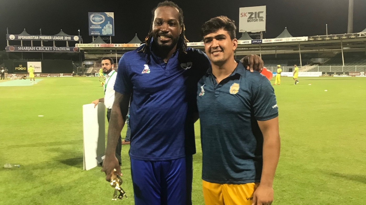 APL 2018: Hazratullah Zazai terms hitting six sixes in front of his Idol Chris Gayle as