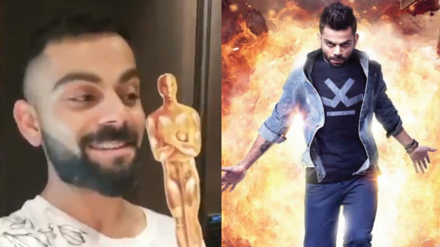 WATCH: Virat Kohli gets an Oscar award for his 'unreleased' movie