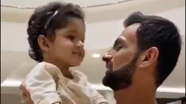 WATCH- Shoaib Malik finally meets his son Izhaan in Dubai