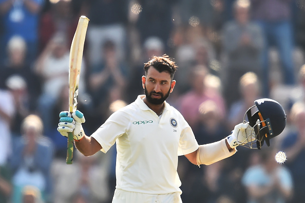 Pujara celebrates his 15th Test ton | Getty