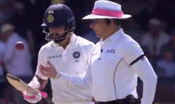 Umpire didn't like Virat's antics | Twitter