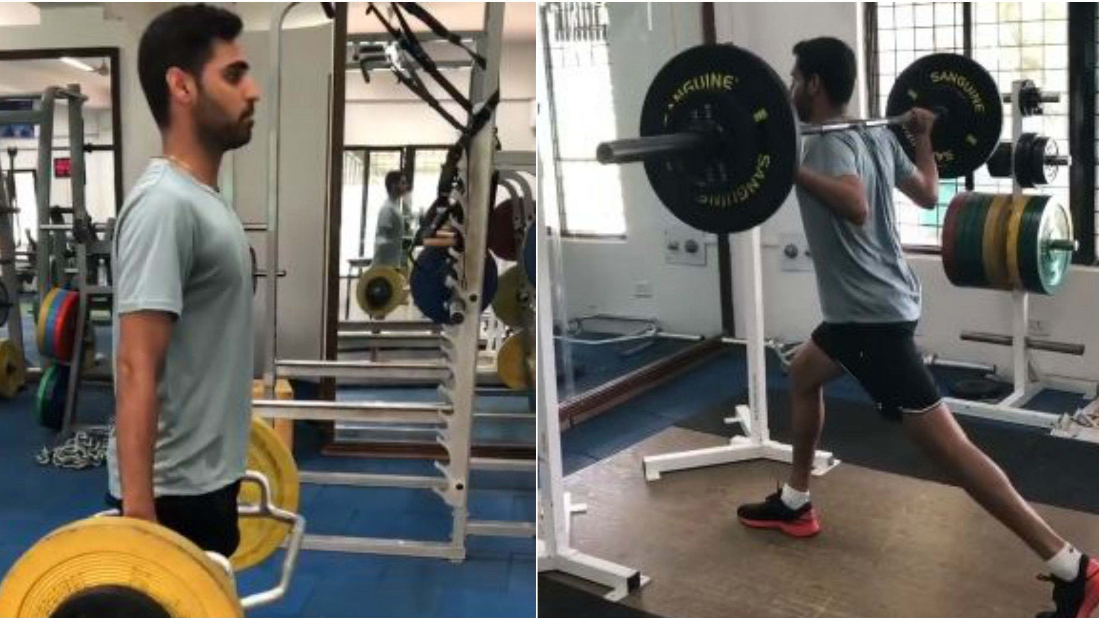 WATCH: Bhuvneshwar Kumar resumes training; lifts weights at the gym