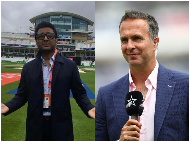 Sanjay Manjrekar and Michael Vaughan