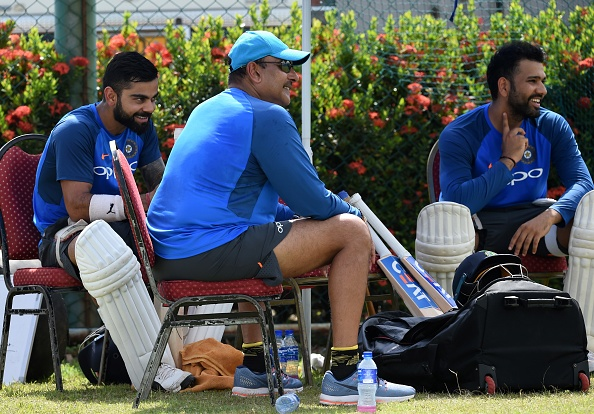 India coach Ravi Shastri observed the net session from the close quarters | Getty
