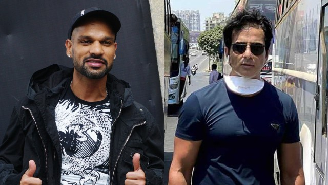 Shikhar Dhawan praises efforts of actor Sonu Sood to send migrants back home