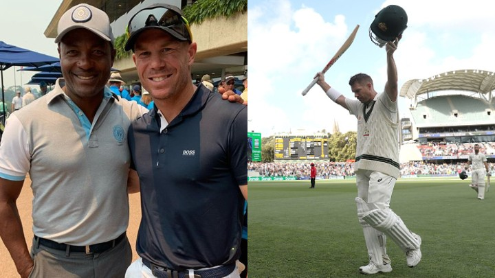 David Warner meets Brian Lara; hopes to get another chance to go past his record of 400 one day