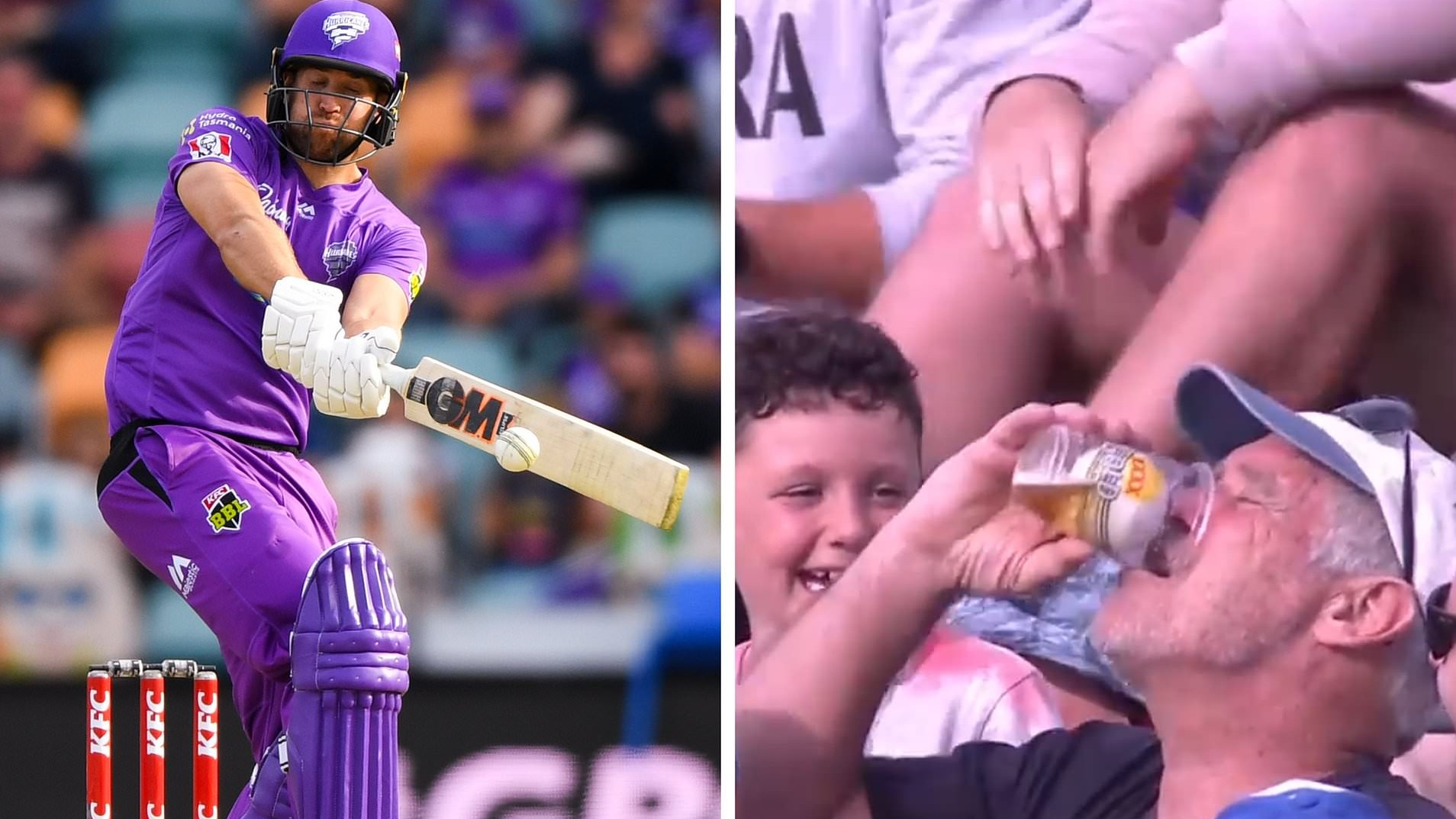 BBL 10: WATCH – Dawid Malan's six lands in a cup of beer, fan refuses to return the ball