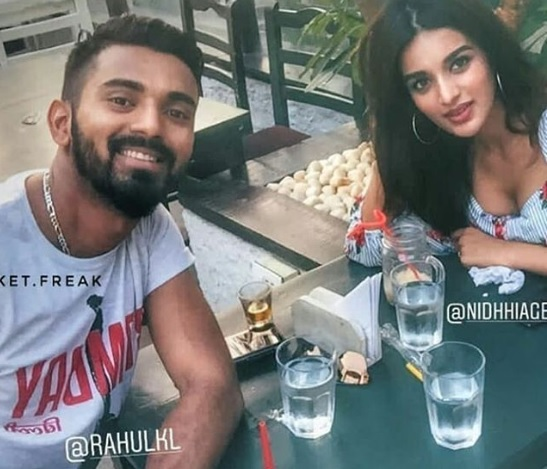 KL Rahul and actress Nidhhi Agerwal | Instagram