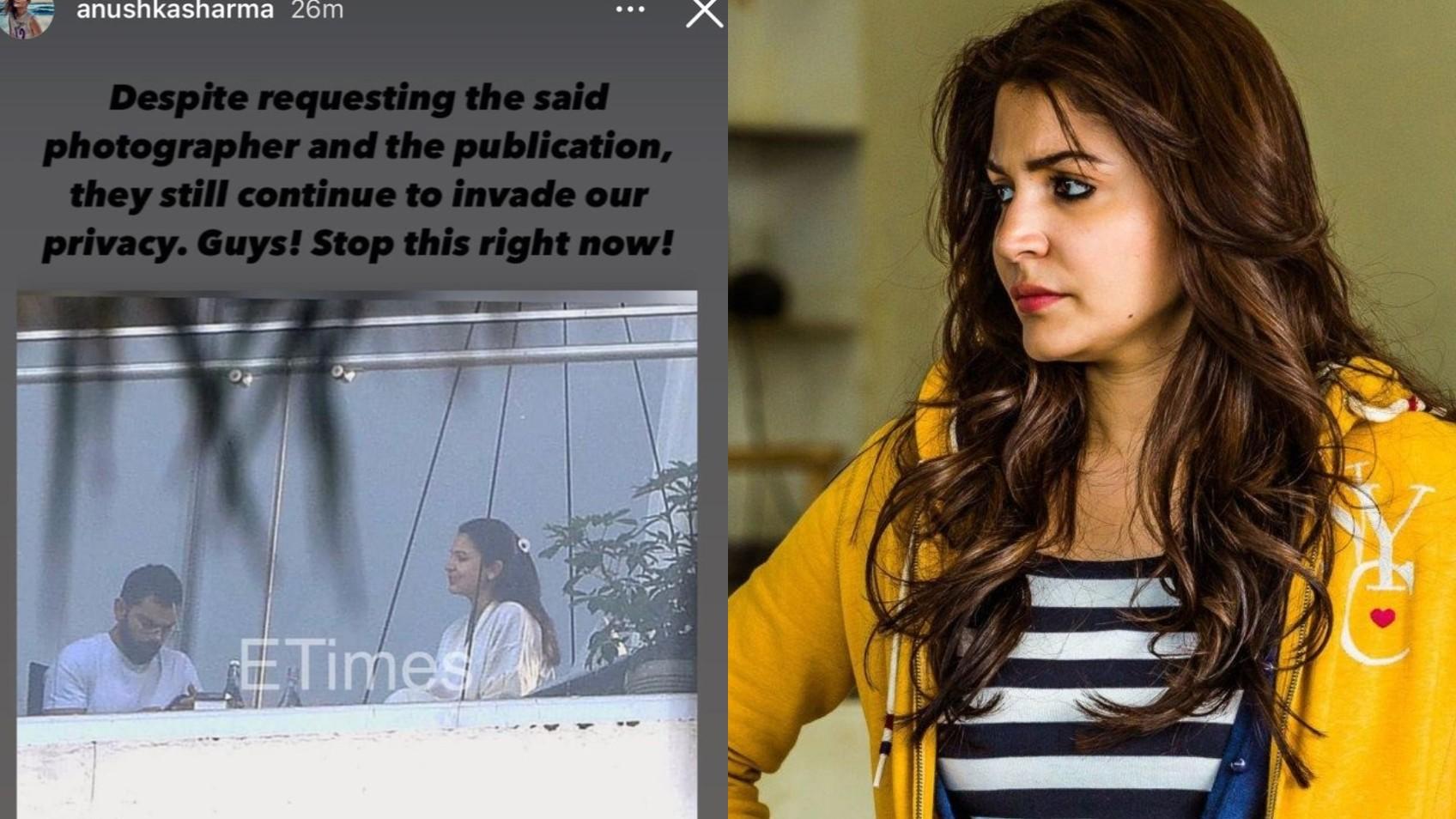 Anushka Sharma slams news site for paparazzi photo and privacy invasion