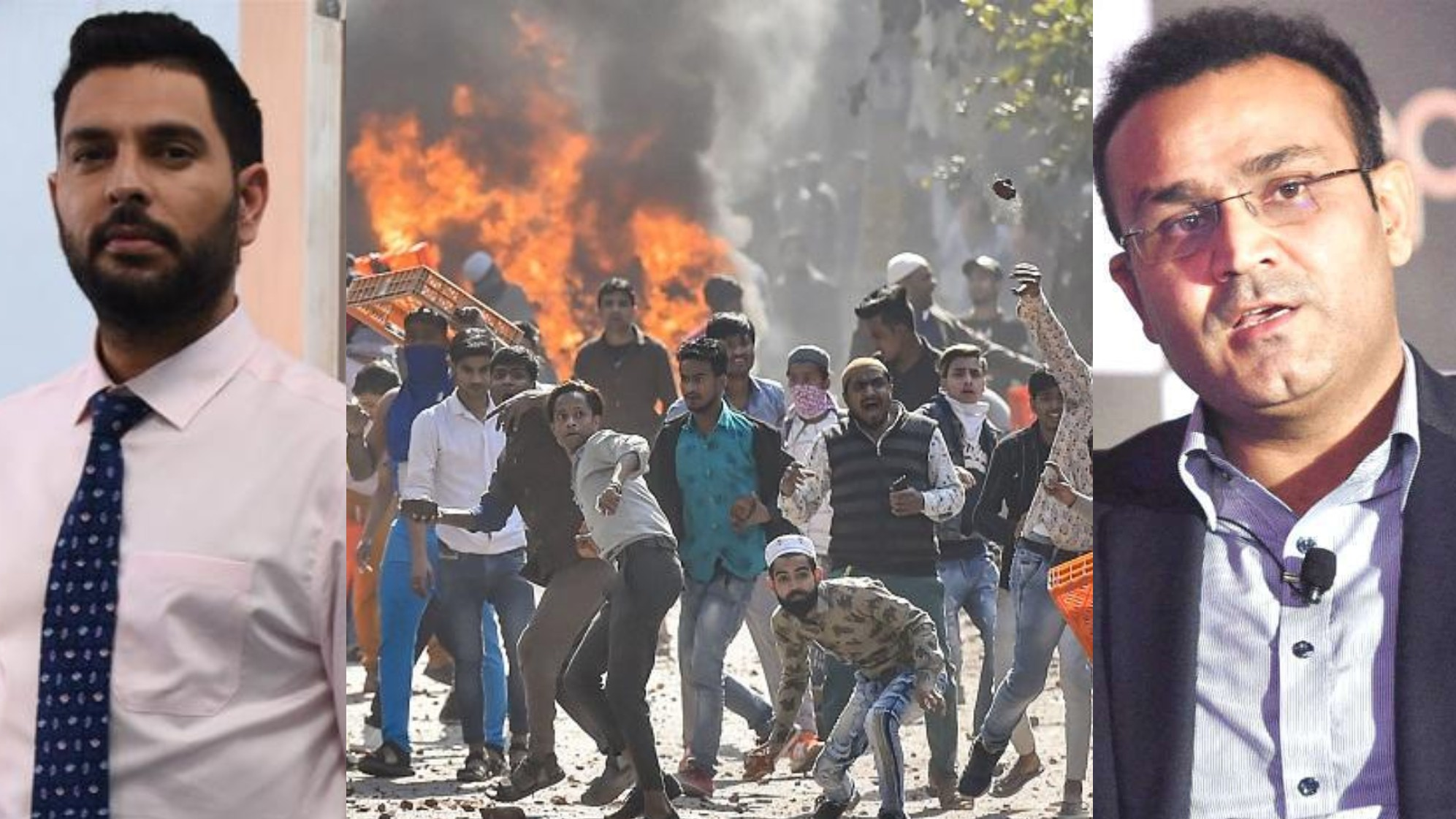 Irfan Pathan, Virender Sehwag and Yuvraj Singh call for peace in Delhi after intense rioting