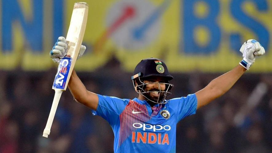 Rohit Sharma became the first batsman to score four centuries in T20I cricket | AFP