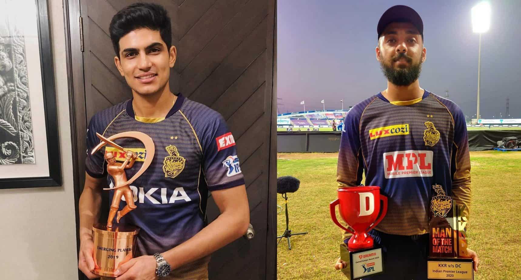 Shubman Gill and Varun Chakravarthy for KKR | Twitter