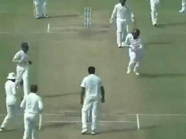 Screengrab of the Hetmyer run out