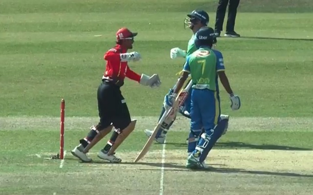 David Warner's run-out in BPL | Twitter