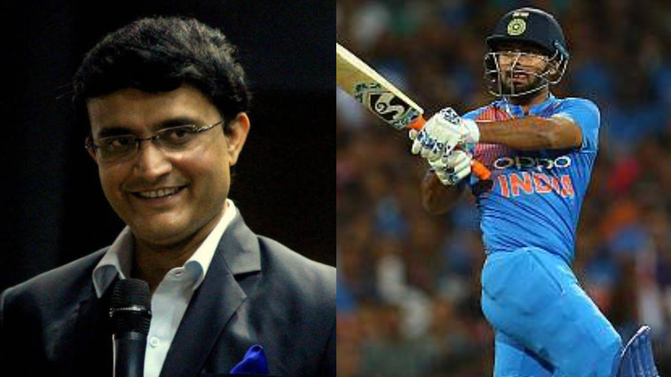 सौरव गांगुली के अनुसार रिषभ पंत को ऑस्ट्रेलिया के खिलाफ वनडे सीरीज के लिए टीम में शामिल किया जाना चाहिए