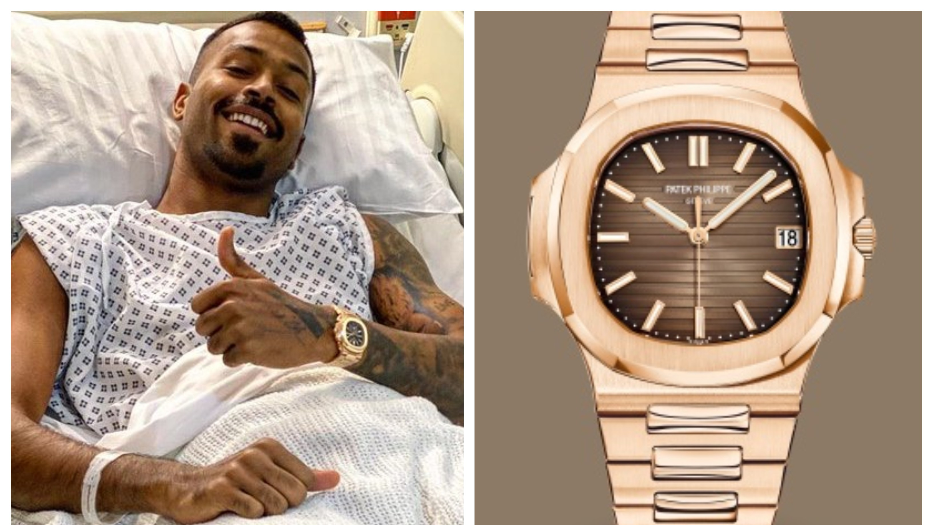 Hardik Pandya sports watch worth INR 81 lakh during surgery in London