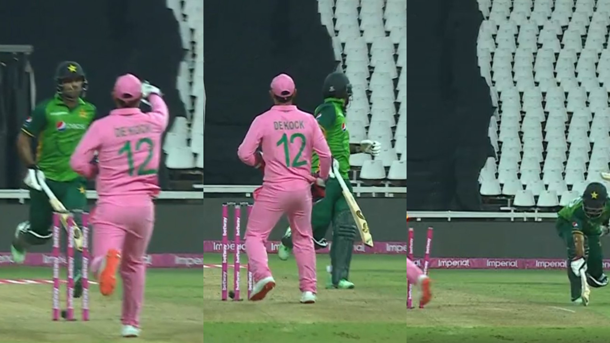 SA v PAK 2021: WATCH- Fakhar Zaman gets run out for 193 in second ODI after Quinton de Kock's fake fielding