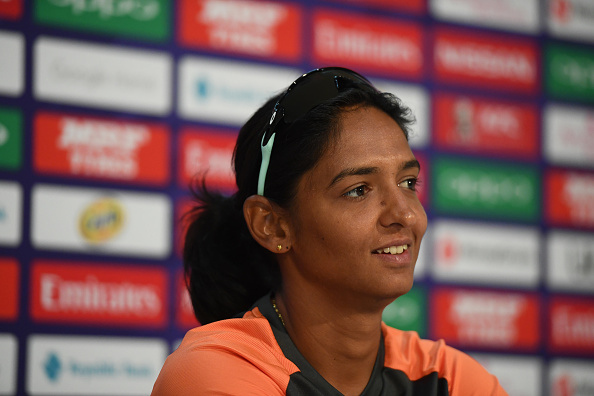 Harmanpreet Kaur addresses the media ahead of the Women's World T20 semi-final against England | Getty