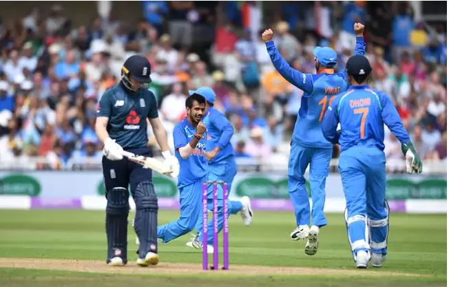 India winning the first ODI match against England | Source Getty