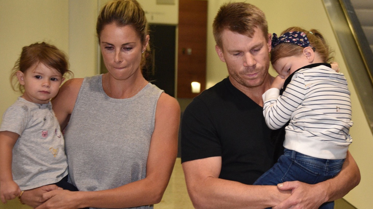SA v AUS 2018: David Warner faces media upon his arrival at Sydney Airport