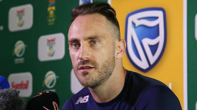 South African captain Faf du Plessis reacts on the punishment to Steve Smith
