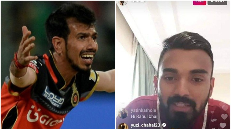 Yuzvendra Chahal refreshes a year-old banter with KL Rahul on Instagram