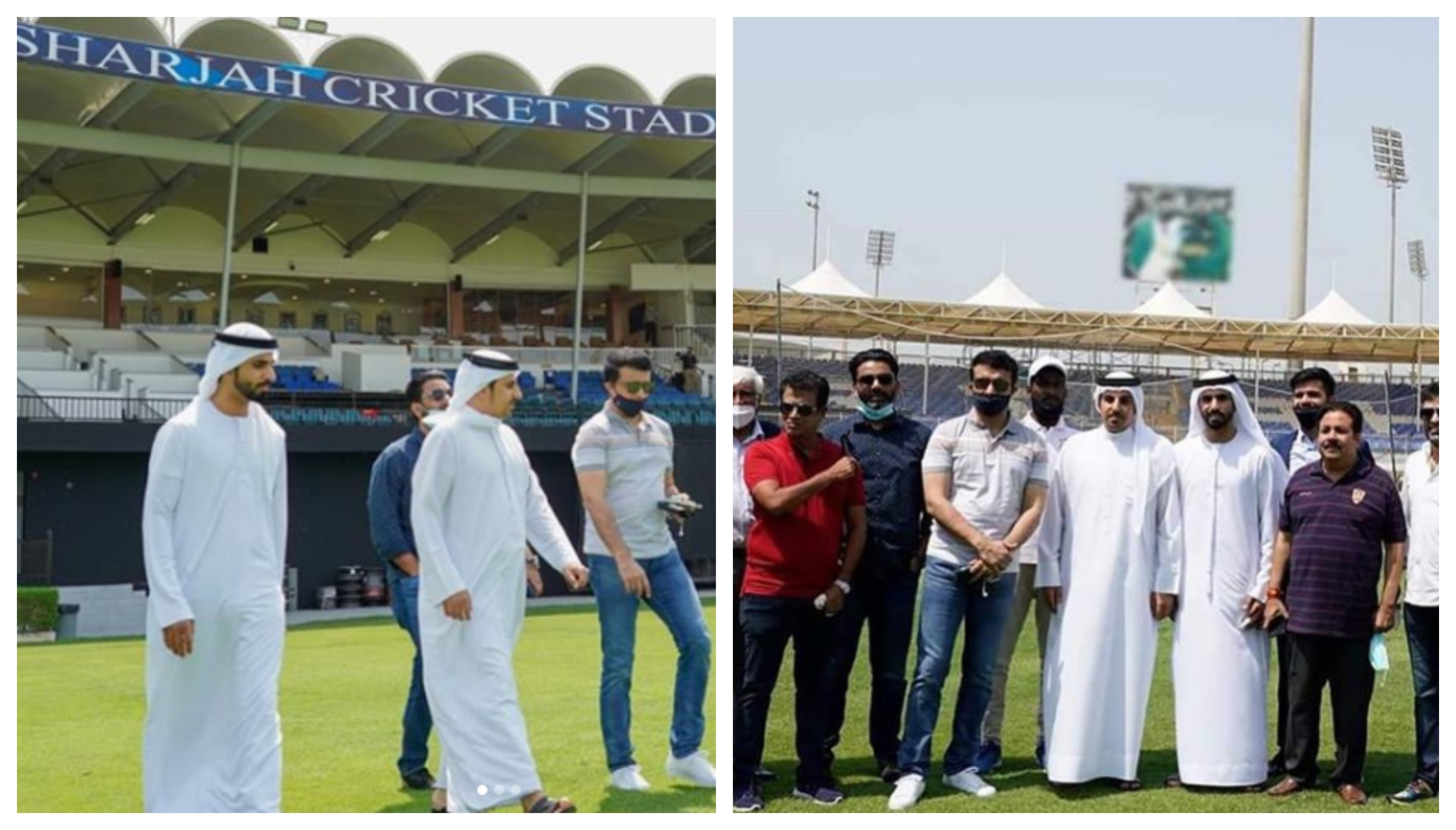 Sourav Ganguly paid a visit to the Sharjah Cricket Stadium | Instagram