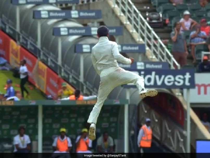 विराट कोहली की जश्न मनाने वाली छलांग ने उनके प्रशंसकों को किया प्रभावित