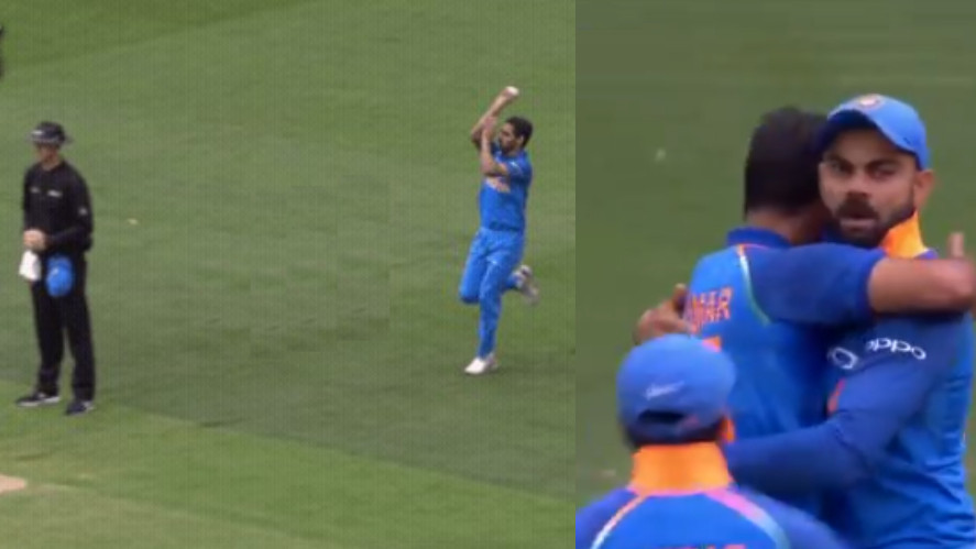 AUS v IND 2018-19: WATCH- MS Dhoni and Bhuvneshwar Kumar plot Aaron Finch's wicket