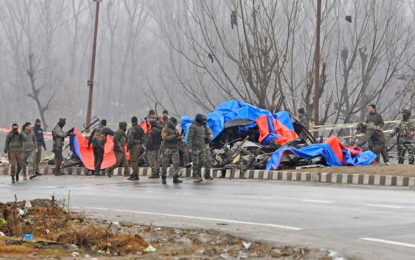 Pulwama blast site | GETTY