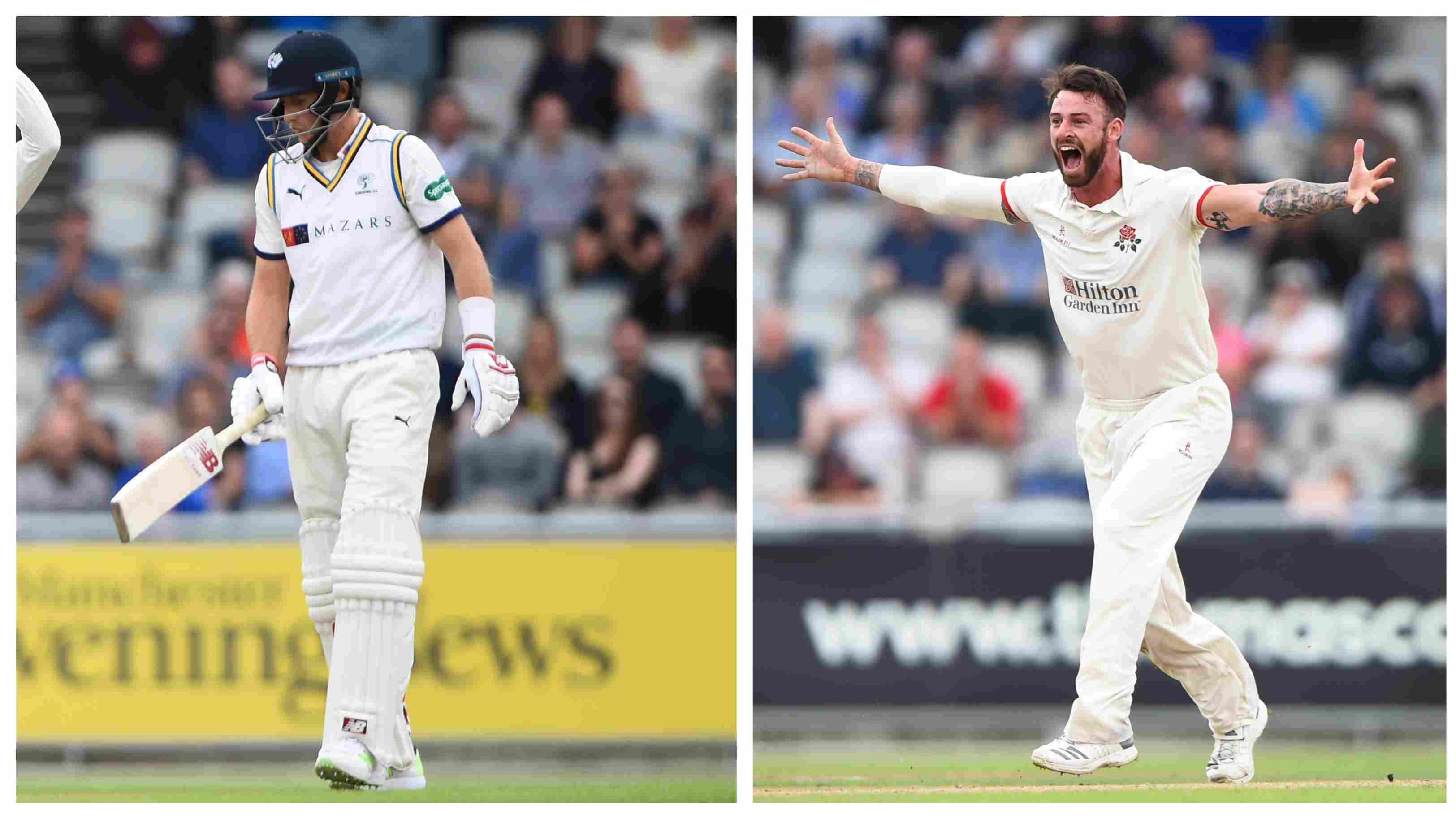 WATCH: Lancashire seamer dismisses Root, Williamson and Bairstow to claim a hat-trick in county cricket