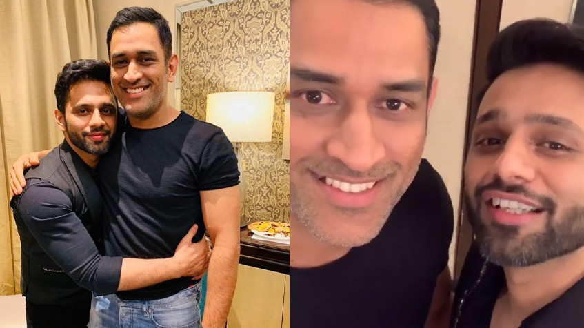 WATCH: MS Dhoni's reply to Rahul Vaidya leaves everyone in splits