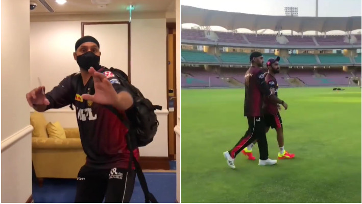 IPL 2021: WATCH - Harbhajan Singh comes out of quarantine; joins KKR for outdoor training