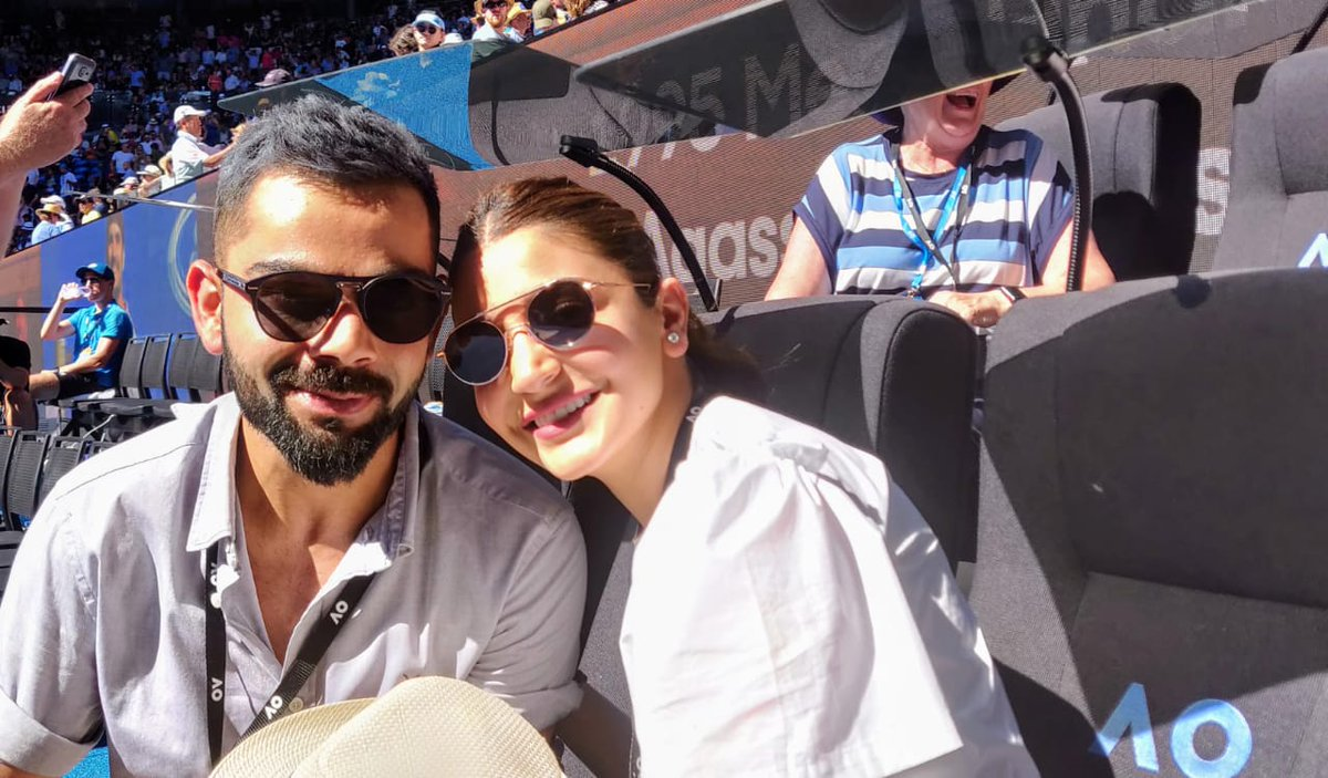 Kohli and Anushka spotted enjoying the Australian Open | Twitter